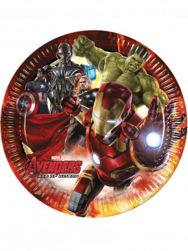 8 Assiettes en carton Avengers l'Ère d'Ultron™ 23 cm