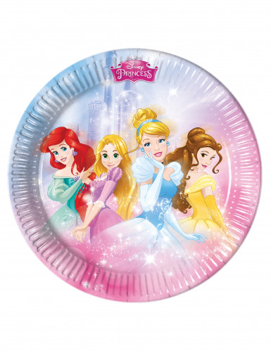 8 Assiettes en carton Princesses Disney™ 23 cm