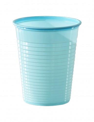 50 Gobelets en plastique bleu pastel 20 cl
