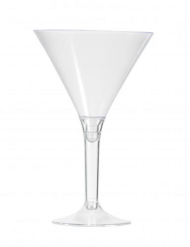 6 Verres à pied cocktail transparent 14 cm