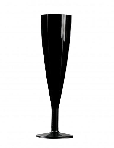6 Flûtes champagne noires