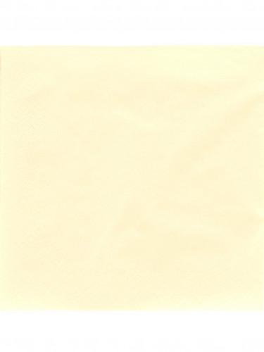 50 Serviettes ivoire 38 x 38 cm
