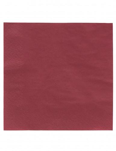 50 Serviettes bordeaux 38 x 38 cm
