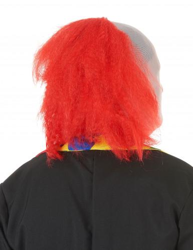 Cagoule clown avec cheveux adulte Halloween-1