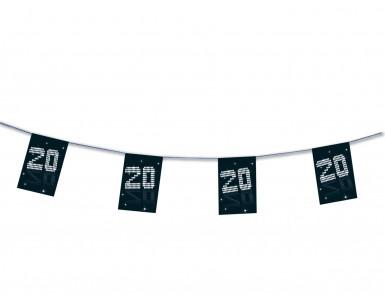 Guirlande papier 20 ans VIP 4 m