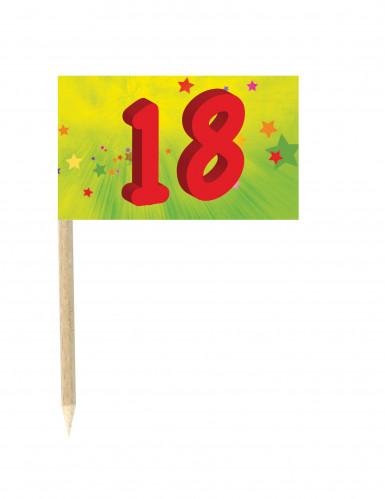 10 Drapeaux mini pic anniversaire 18 ans