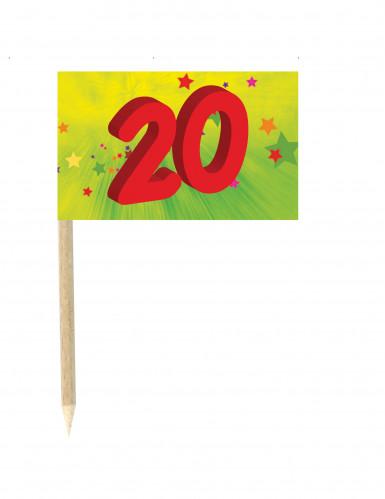 10 Drapeaux mini pic anniversaire 20 ans