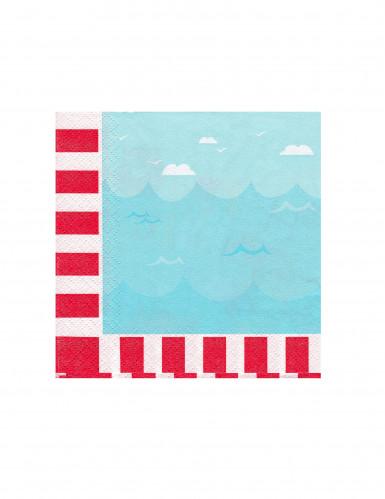 16 serviettes en papier Petit moussaillon 25 X 25 cm-1
