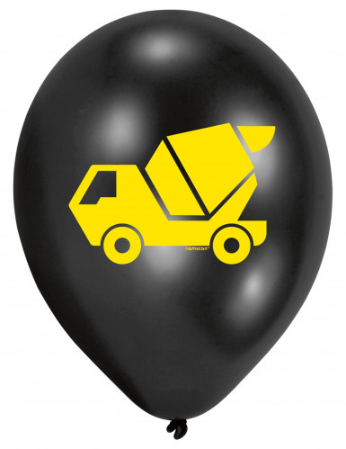 6 Ballons en latex Engins de Chantier