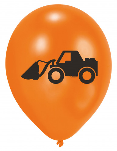 6 Ballons en latex Engins de Chantier-1