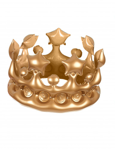Couronne de roi gonflable or-1