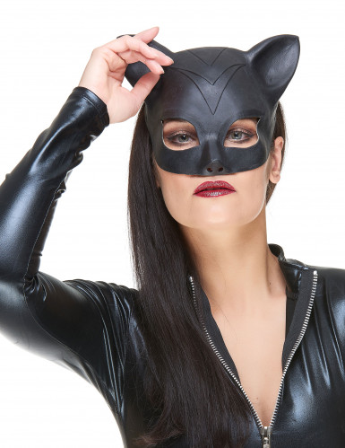Demi masque Latex femme-chat adulte