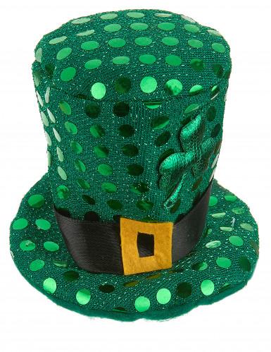 Mini chapeau haut de forme à sequins St Patrick adulte-1