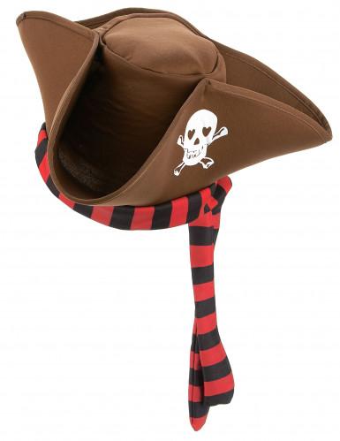 Chapeau de pirate marron adulte