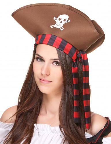 Chapeau de pirate marron adulte-1
