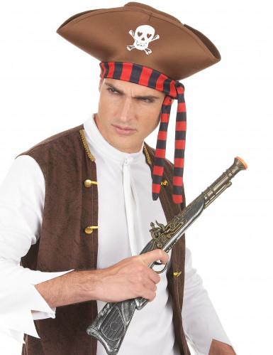 Chapeau de pirate marron adulte-2