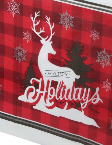 Nappe en plastique Renne de Noël 137 x 259 cm-1