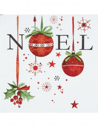 20 Serviettes en papier Noël 33 x 33 cm