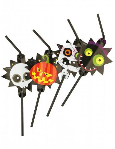 8 Pailles Petits monstres Halloween