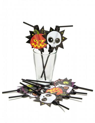 8 Pailles Petits monstres Halloween-1