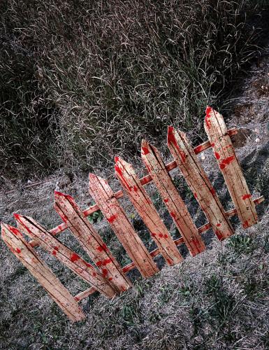 2 Décorations barrières ensanglantées d'Halloween 59 cm-1