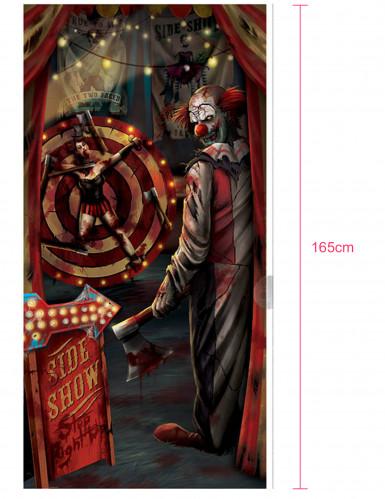 Décoration de porte clown Halloween 85 x 165 cm-1