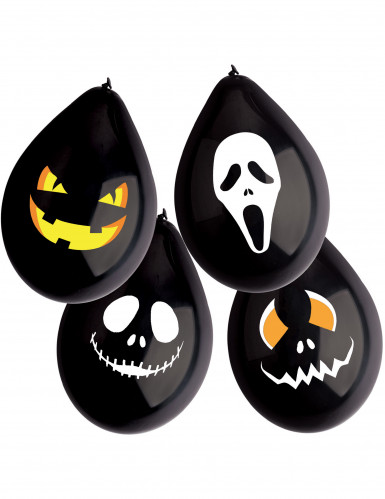 12 Ballons latex Monstres Halloween