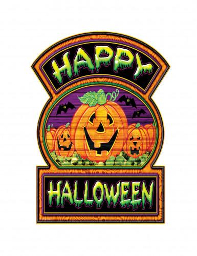Décoration carton citrouilles Happy Halloween