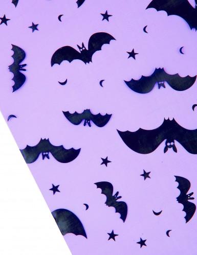 Chemin de table organza violet chauve-souris Halloween 29 cm x 5 m-1