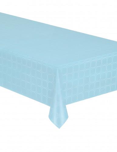 Nappe en rouleau papier damassé bleu pastel 6 m