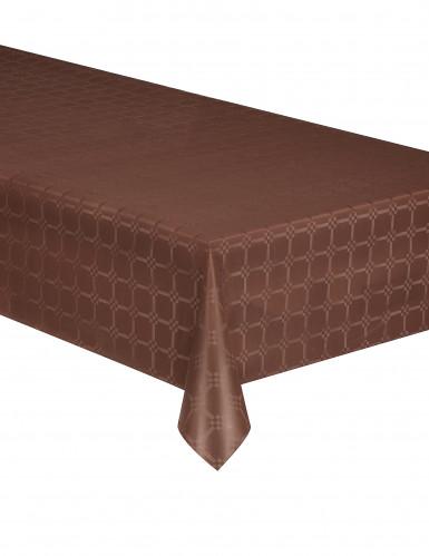 Nappe en rouleau papier damassé marron 6 m