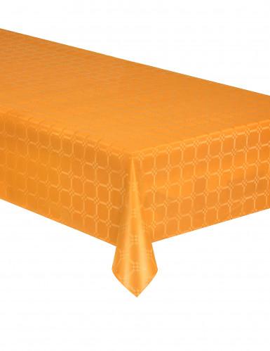 Nappe en rouleau papier damassé orange 6 m