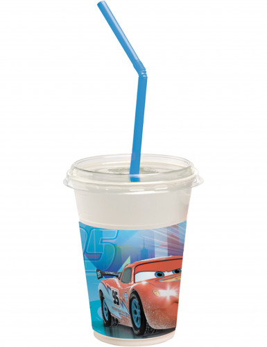 12 Gobelets + pailles + couvercles Cars Ice™ 300 ml