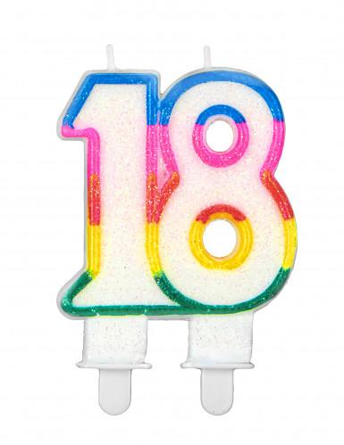 Bougie d'anniversaire chiffre 18