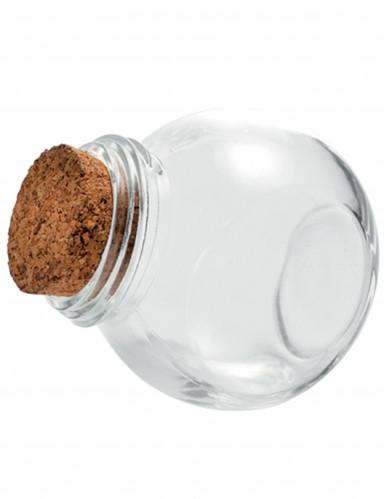 Petit bocal en verre avec bouchon liège 5,5 cm