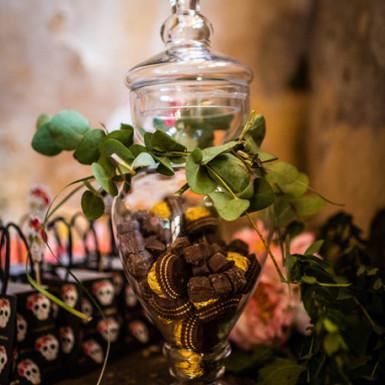 Bonbonnière à l'ancienne en verre 40 cm-1