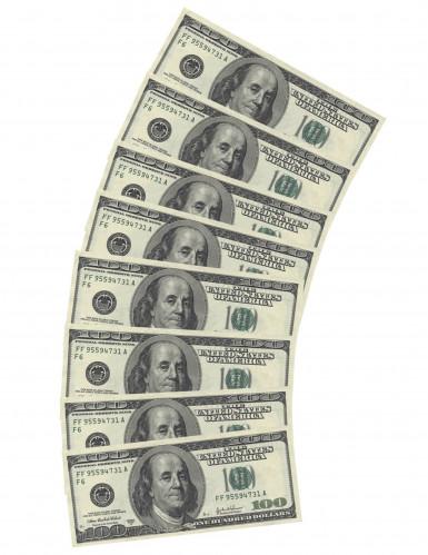 10 Serviettes en papier rectangulaires Dollar