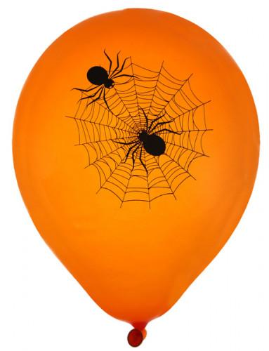 8 Ballons latex toile d'araignée Halloween