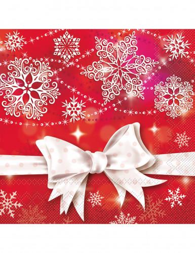 20 Serviettes en papier Noeud de Noël