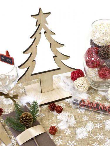 Décoration Sapin de Noël en bois 25 cm-1