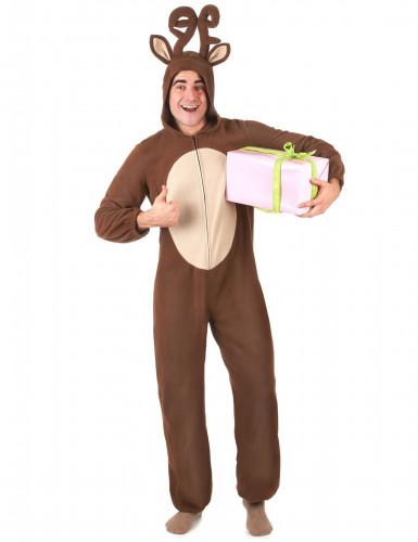 Combinaison à capuche renne homme-1