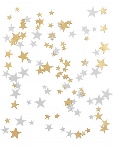 Confettis étoiles or et blanc-1