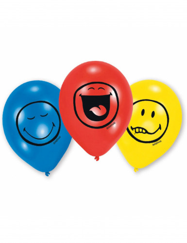 6 Ballons en latex émoticônes Smiley™