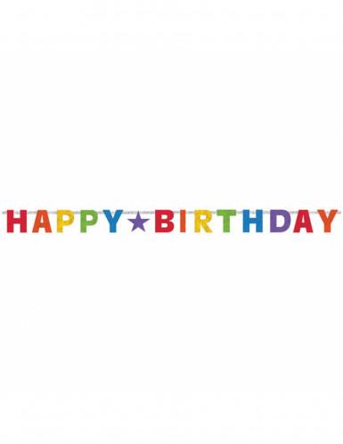 Guirlande articulée Happy Birthday multicolore-1