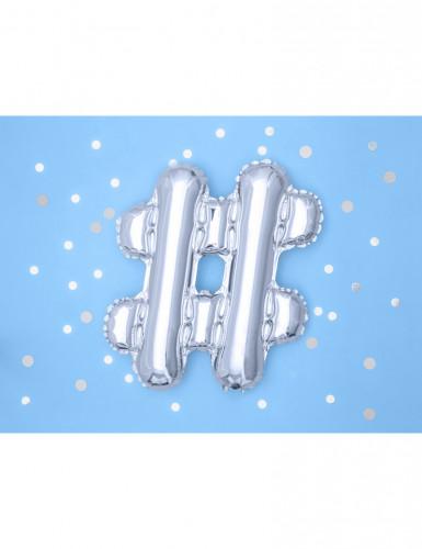 Ballon aluminium symbole # argent 33 cm-1