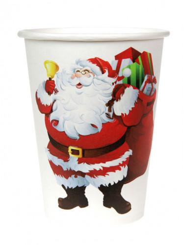 10 Gobelets en carton Joyeux Noël 200 ml