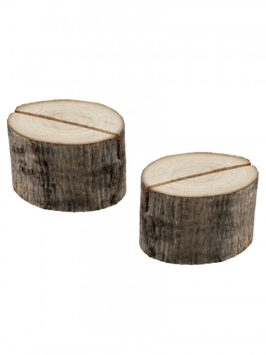 2 Marque-places rondins de bois