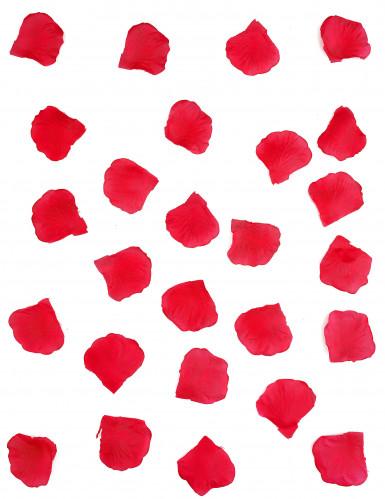 150 pétales de rose en tissu rouge-1