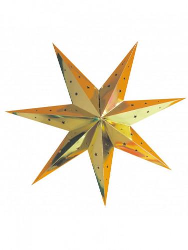 Lanterne étoile or 70 cm
