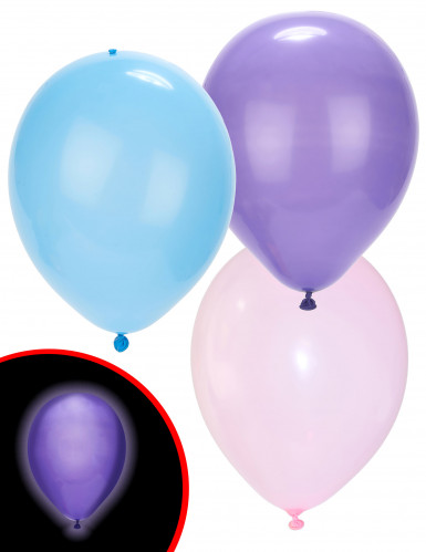 5 Ballons LED pastels Illooms ®